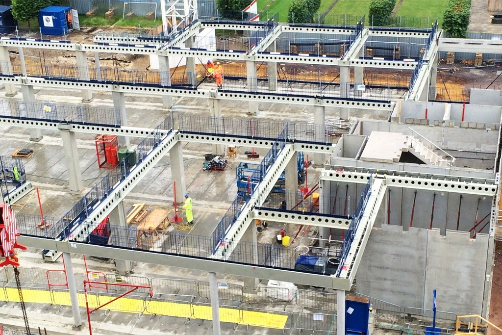 Hybrid Construction with Hollowcore Floors